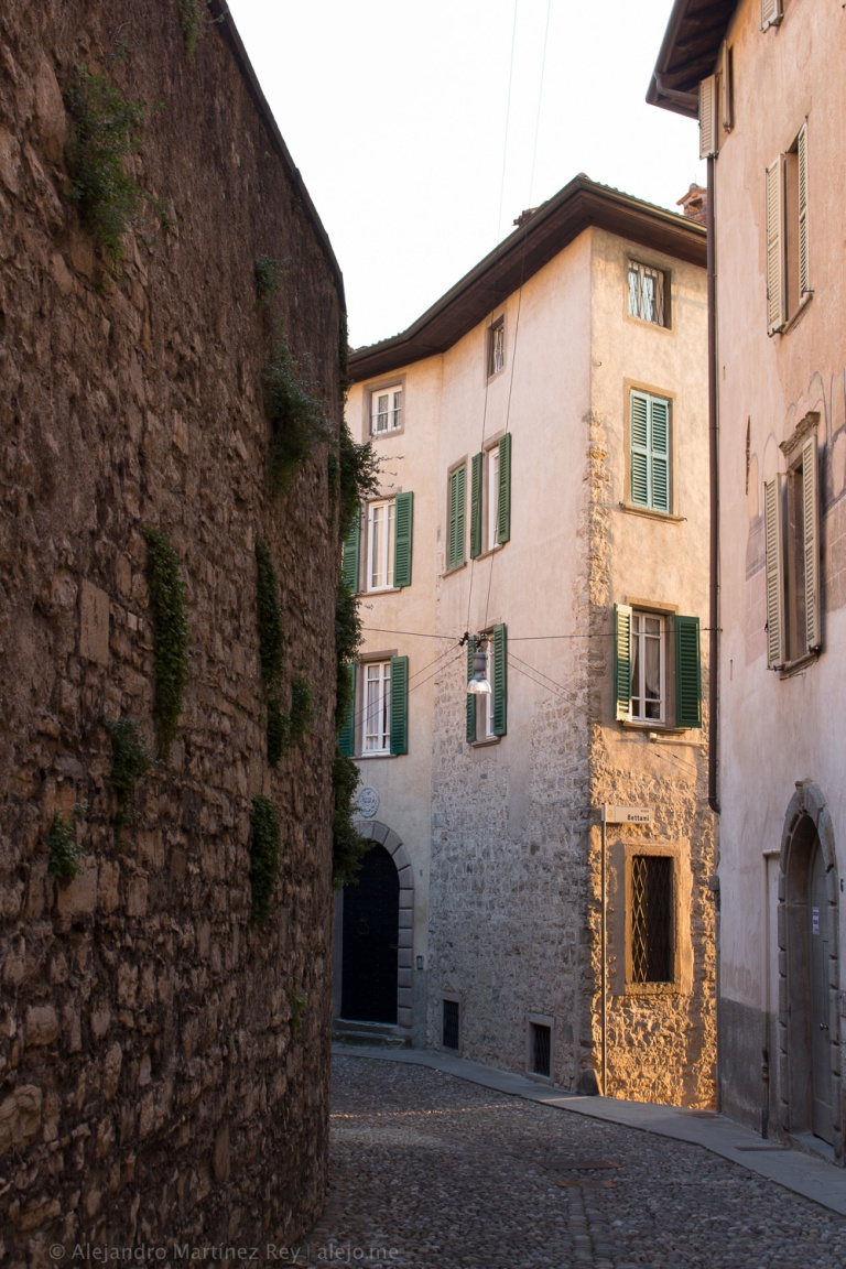 Bergamo Citta Alta Stradine Street